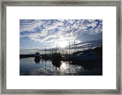 Marina Sunset Framed Print by Tom Dowd