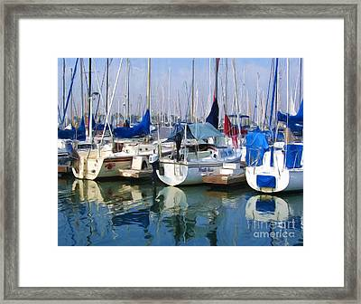 Marina Framed Print by Tom Griffithe
