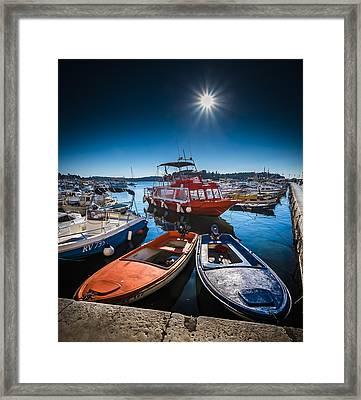 Marina Under The Sun Framed Print