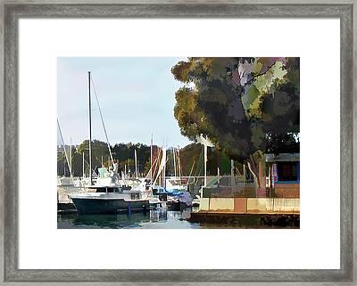 Marina Views Framed Print