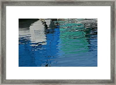 Marina Water Abstract 1 Framed Print by Fraida Gutovich