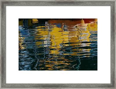 Marina Water Abstract 2 Framed Print by Fraida Gutovich