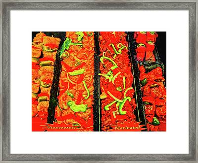 Marinated 3 Framed Print by Bruce Iorio