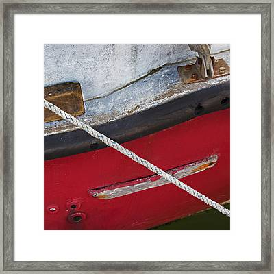 Framed Print featuring the photograph Marine Abstract by Charles Harden
