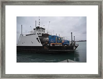 Marine City Mich Car Truck Ferry Framed Print by Randy J Heath