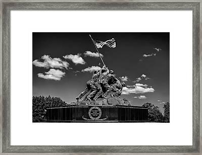Marine Corps War Memorial Framed Print by Andrew Soundarajan