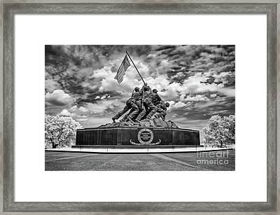 Marine Corps War Memorial Framed Print
