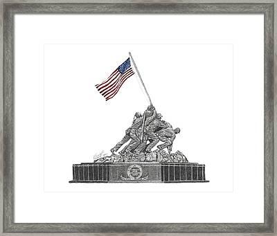 Marine Corps War Memorial - Iwo Jima Framed Print