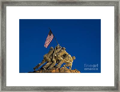 Marine Corps War Memorial Framed Print by John Greim