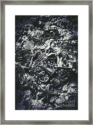 Marine Elemental Abstraction Framed Print
