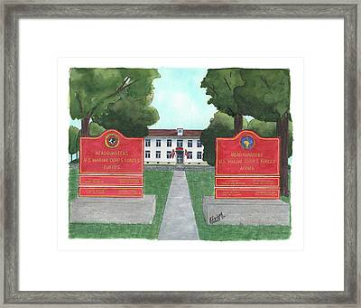 Marine Forces Europe And Marine Forces Africa Framed Print