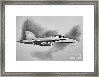Marine Hornet Framed Print