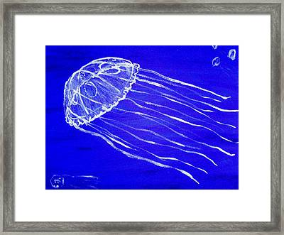 Marine Jelly 1 Framed Print by Helen Krummenacker
