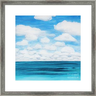 Marine Layer Breaking Up Framed Print