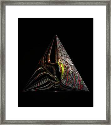 Framed Print featuring the digital art Marine Life Abstract 3 by Irma BACKELANT GALLERIES