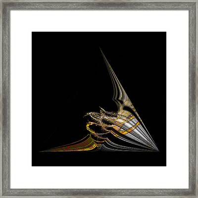 Framed Print featuring the digital art Marine Life Abstrat1 by Irma BACKELANT GALLERIES