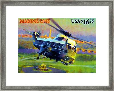 Marine One Framed Print by Lanjee Chee
