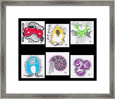 Marine Organisms Framed Print