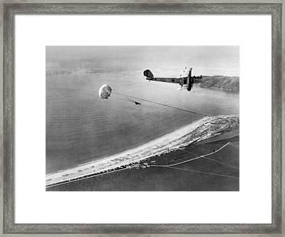 Marine Parachute Jumper Framed Print