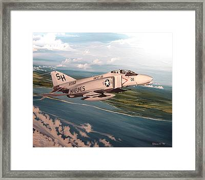 Marine Phantom Framed Print by Marc Stewart