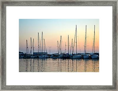 Marine Reflections Framed Print