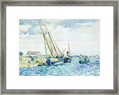 Marine Scene  Framed Print by Henri-Edmond Cross