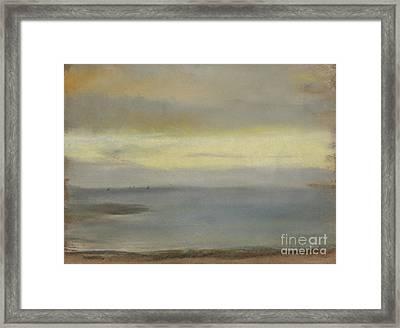 Marine Soleil Couchant Framed Print by Edgar Degas