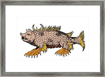 Marine Sow, Sea Monster, 16th Century Framed Print