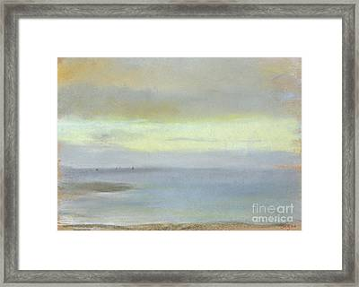 Marine Sunset Framed Print by Edgar Degas