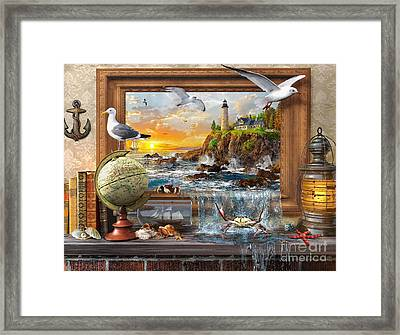 Marine To Life Framed Print by Dominic Davison