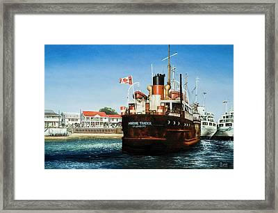 Framed Print featuring the painting Marine Trader by Michael Frank