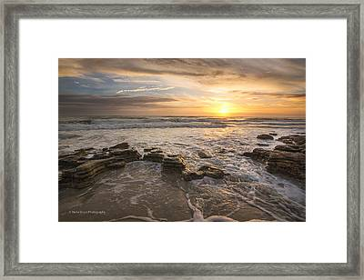 Marineland Sunrise 170 Framed Print by Maria  Struss