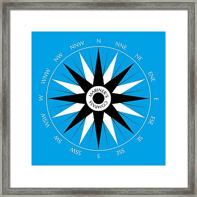Mariner's Compass Framed Print by Frank Tschakert