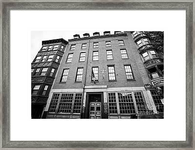 mariners house historic hotel north square Boston USA Framed Print