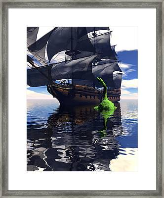 Mariner's Nightmare Framed Print by Claude McCoy
