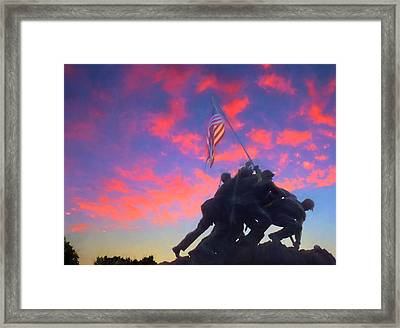 Marines At Dawn Framed Print