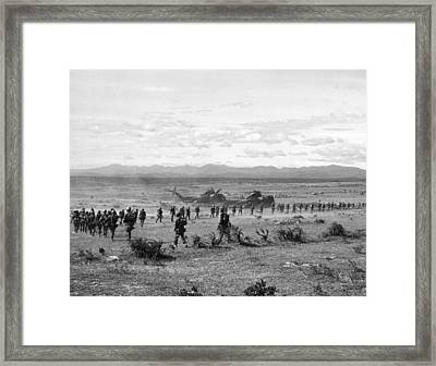 Marines At Operation Hastings Framed Print