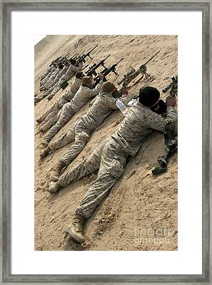 Marines Engage Targets During A Ten-day Framed Print
