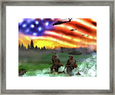 Marines Framed Print by Josh Burns
