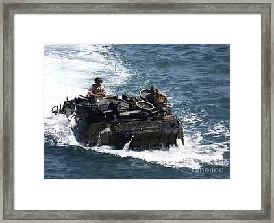 Marines Operate An Amphibious Assault Framed Print