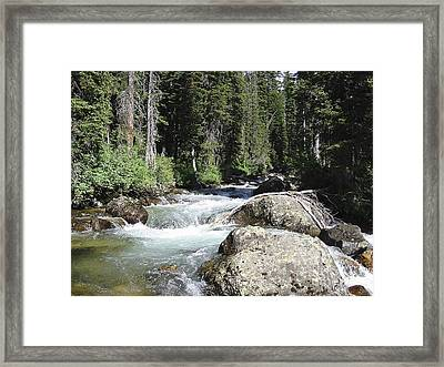 Framed Print featuring the photograph Marinette White Water Falls by Jack G  Brauer