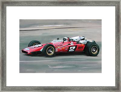 Mario Andretti Indy 500 Winner Framed Print