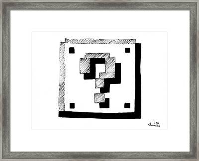 Mario Block Framed Print by Kayleigh Semeniuk