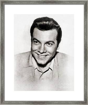 Mario Lanza, Vintage Singer And Actor Framed Print by John Springfield