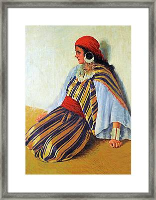 Mario Ridola Woman Framed Print by Munir Alawi