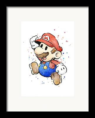 Mario Framed Prints