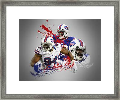 Mario Williams Bills Framed Print