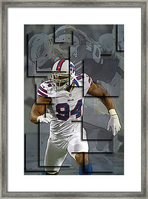 Mario Williams Buffalo Bills Blocks Framed Print