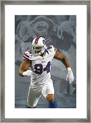 Mario Williams Buffalo Bills Framed Print