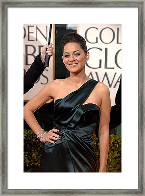 Marion Cotillard Wearing A Dior Gown Framed Print by Everett